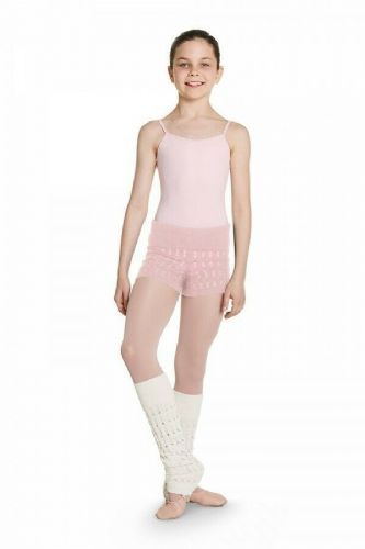 BLOCH Girls Dance Cotton Textured Knit Shorts Warm Up CR5514 Nora in Pink